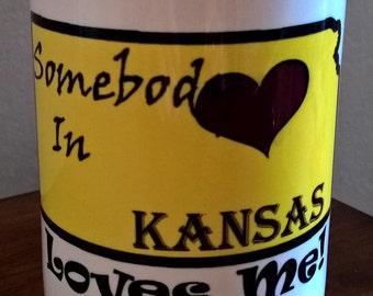 Somebody in Kansas Loves ME - Coffee mug