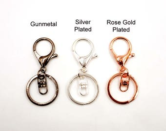 3 Gunmetal, Silver Plated Or Rose Gold Plated Trigger Snap Hook Lobster Swivel Clasps - 31-21