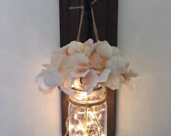 Lighted Mason Jar Vase