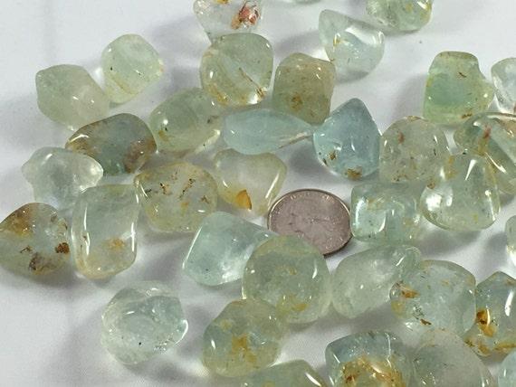 Beautiful Tumbled TOPAZ Healing Gemstone// Blue Topaz// Tumbled Stones// November Birthstone// Healing Crystals// Healing Tools//Birthstones