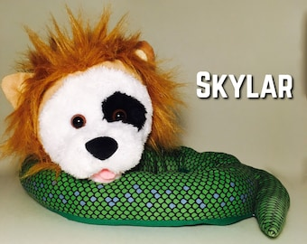 Handstitched and Re-imagined Plush Animal Mix, FrankenStuffs Skylar