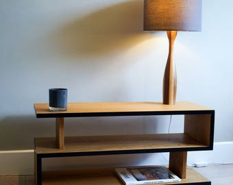 Coffee table | TV Stand | Contemporary Handmade Oak | Choice of length and Colour Edge - Customise