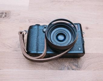Camera wrist Strap, Leather Camera Wrist Strap, Black Leather Camera Wrist Strap, Brown Leather Camera Wrist Strap