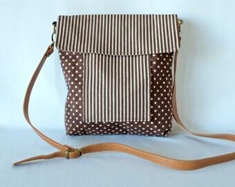 Messenger Bag - 'Brown Stripes'