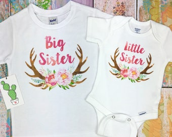 Matching Sister Outfits, Big Sister Little Sister Outfits, Big Sister Shirt, Big Sister Announcement, Big Sister Gift, Big Sister Onesie