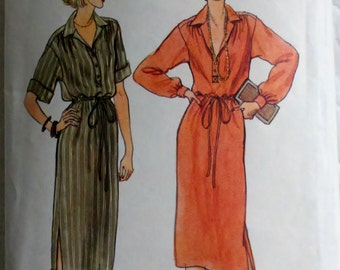 """1980s Vintage Womens Sewing Pattern Dress Vogue 7049 Size 12 Bust 34"""""""