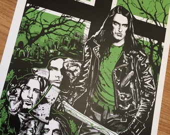 """Type o negative tribute poster hand silk screened signed and numbered - 18' x 24"""" or 11""""x14"""" all hail peter steele"""