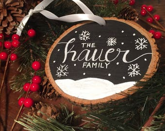 Personalized Christmas ornaments |  Family Ornament | Custom Ornament | Christmas Ornament | Housewarming Gift | wood Christmas ornaments