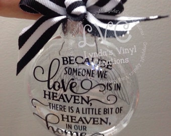 Because someone we love ornament