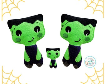 ITH Frankenstein Toy Monster Machine Embroidery Pattern Download, ITH Halloween Plush, ITH Monster, in the hoop,Frankenstein stuffie, softie
