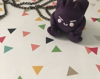 Gengar - Ghost Pokemon - Polymer Clay Necklace - Ready to Ship