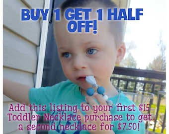 1/2 Off Toddler Necklace Deal