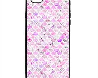 Fish Scale Mermaid Print Pattern Phone Case Samsung Galaxy S5 S6 S7 S8 S9 Note Edge iPhone 4 4S 5 5S 5C 6 6S 7 7S 8 8S X SE Plus