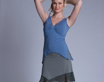 Bamboo and Organic Cotton Calypso Lace Ruffle Skirt