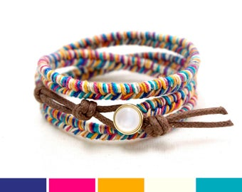 beaded colorful strand bracelet rainbow multi original product