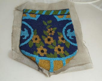 Vintage Micro Beaded Bag Front Unfinished