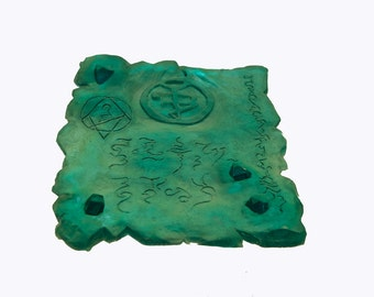 The Emerald Tablet any colour cthulhu prop mystic fantasy ancient item larp film stage steampunk mummy witch wizard tomb relic magic mage