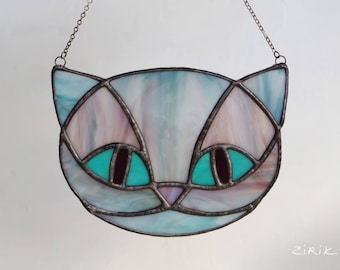 Cheshire Cat. Stained glass