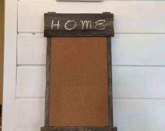 Rustic Farmhouse Message Board and Key Holder