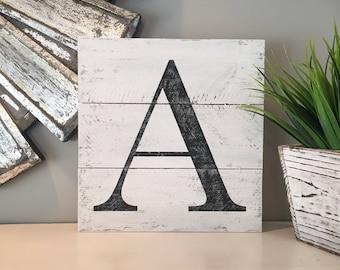Farmhouse Letter signs, custom word, monogram, alphabet, wood pallet, shiplap, farmhouse sign