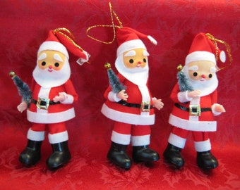 Vintage Christmas Santa Claus Ornaments / Japan Ornament / Santa Doll