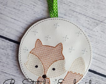 4x4 ITH Fox Ornament - Embroidery Design INSTANT Download!