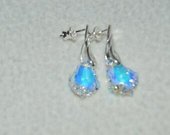 Swarovski Crystal AB Small Baroque Earrings