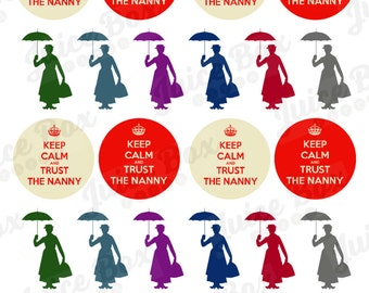 Set of Nanny / Babysitter Stickers for Various Planners, Journals, Calendars