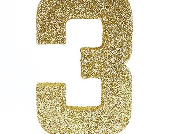 8 inch Glitter Numbers, Birthday Props,Photo Prop Number, Numbers 0-9.