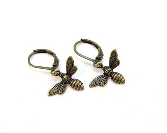 Tiny Honeybee Earrings