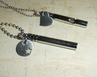 Stainless steel whistle necklace