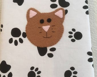 CAT NOTEBOOK & COVER, A5 Notebook incl, Cat Lover, Stationery, Animal Lover, File, Animal Lover Gift, Gift idea , Kids, Teacher, Pawcrafts