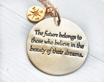 Gold Graduation Necklace - 21st Birthday Gift - Graduation Gift For Roommates - Graduation Gift For Daughter- Inspirational Necklace
