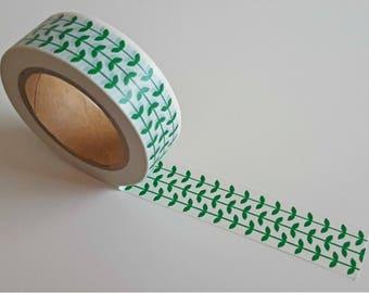 Washi Tape/ Craft Tape- Green Vines