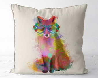 Animal pillow Woodland nursery decor fox pillow fox gifts fox cushions  animal cushion woodland animal kids room pillow kids room decor