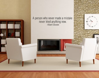 Albert Einstein Motivational Inspirational Quote Wall Decal
