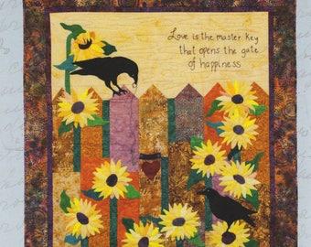 Key of Happiness Batik/Applique' Quilt Pattern