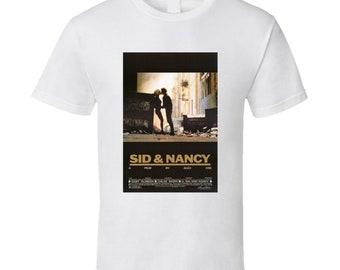 Sid And Nancy Retro Movie Poster Fan T Shirt
