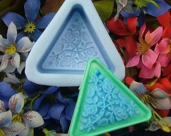 Triangle Silicone Mold Silicone Mould Candy Mold Chocolate Mold Soap Mold Polymer Clay Mold Resin Mold R0304