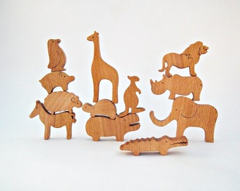 Toys Animals Wooden Toys Wooden Balancer  Wooden Toy for Baby Kids  Birthday Gift  Handmade Natural Eco Friendly