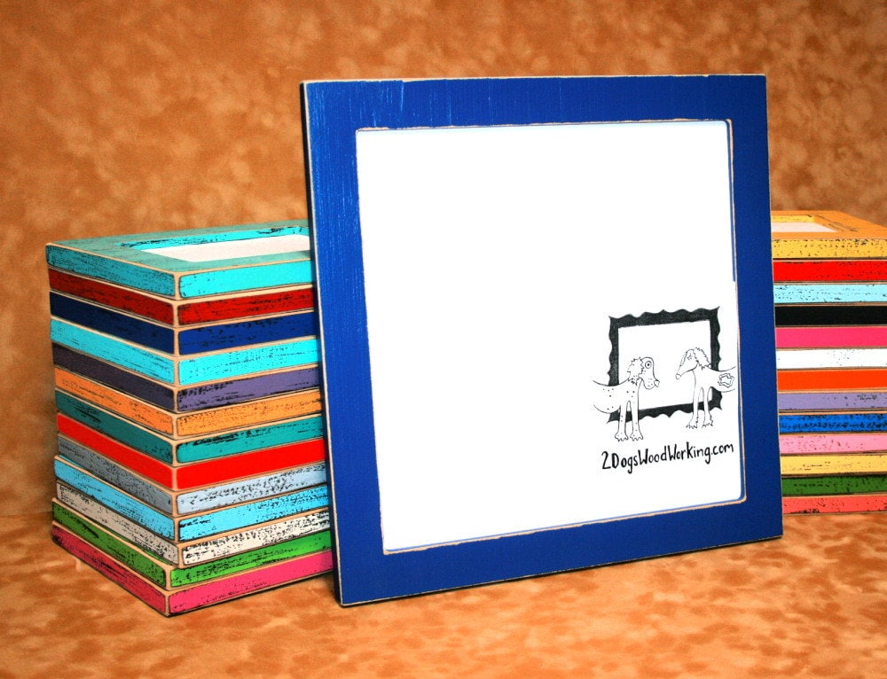 12x12 picture frame, colored frame, Square photo Frame, weathered ...