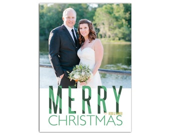 Photo Christmas Card // Digital Printable Christmas Cards // Merry Christmas Greeting Card // 5x7 Printable Photo Holiday Cards // The Heidi