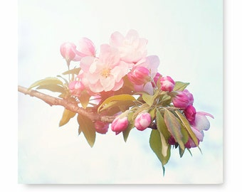 Flower print wall art, Pink Flower blossom Photo, floral print, nature art flower photography, cottage home decor, floral, wall decor