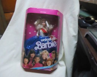 Vintage 1989 Unicef Barbie by Mattel in Box, Not sealed collectable  great Christmas gift