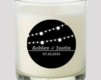 """Black and White Market lights 2"""" Favor labels Great for personalizing your events Candles, cupcake toppers Mason Jar decals, Stickers"""