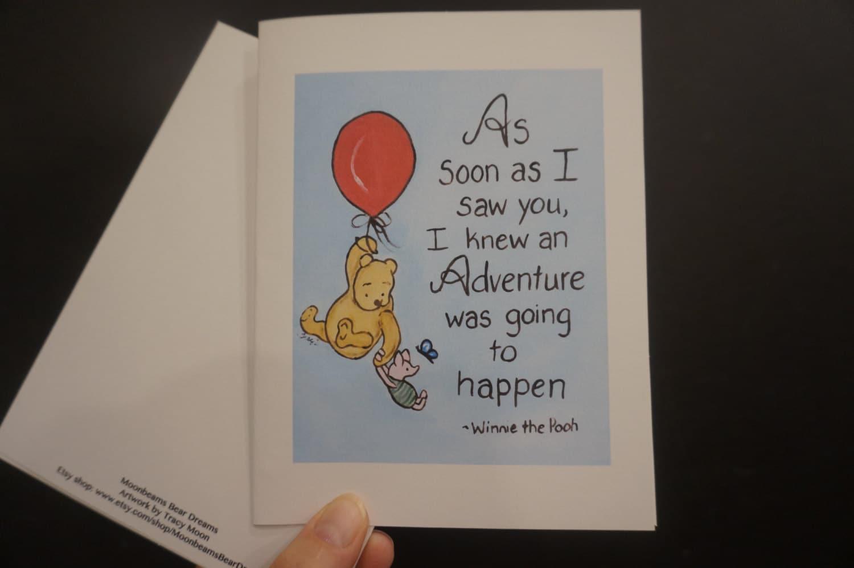 Classic pooh greeting card friendship best friend bff winnie zoom m4hsunfo