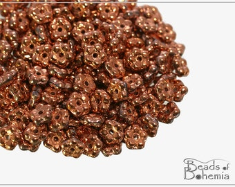 100 pcs Crystal Capri Gold Czech Forget-me-not Flower Beads 5 mm (10750)