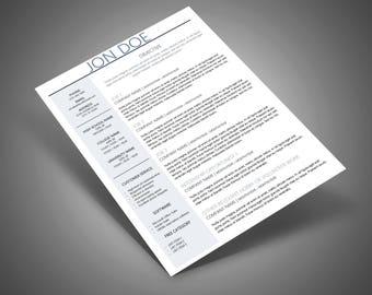 BORDERLINE II Resume & Cover Letter Design Template