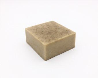 Solid Cleansing Bar // Organic Skin Care / Lavender Face Wash / Natural Facial Cleanser / Gentle Bar Soap / Goat's Milk Soap