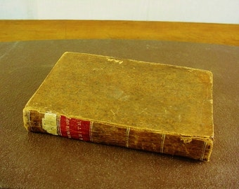 1840 Leather Bound Book Memoirs of Rev John Smith Sheffield Primitive Cabin Decor Shabby
